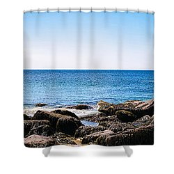Sand Beach Rocky Shore   Shower Curtain by Lars Lentz