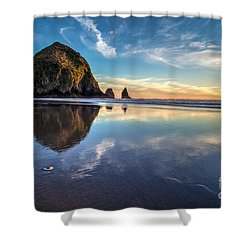 Sand Dollar Sunset Repose Shower Curtain