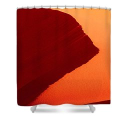 Shower Curtain featuring the photograph Sand Dune Curves Coral Pink Sand Dunes Arizona by Dave Welling