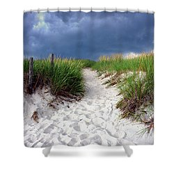 Sand Dune Under Storm Shower Curtain