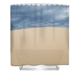 Sand Dunes And Dark Clouds Shower Curtain
