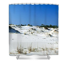 Sand Dunes In A Desert, St. George Shower Curtain by Panoramic Images
