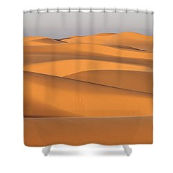 Sand Dunes In The Sahara Desert Shower Curtain by Robert Preston