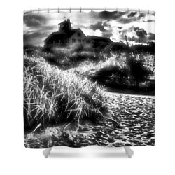 Shower Curtain featuring the photograph Sand In Ma Shoes by Robert McCubbin