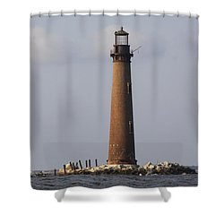 Sand Island Lighthouse - Once 40 Acres Shower Curtain