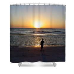 Shower Curtain featuring the photograph Sand Key Sunset by David Nicholls