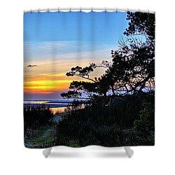 Sand Lake Sunset Shower Curtain
