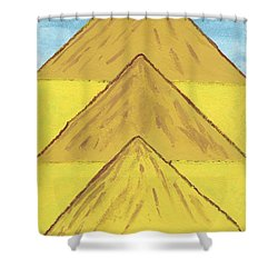 Shower Curtain featuring the painting Sand Mountains by Tracey Williams