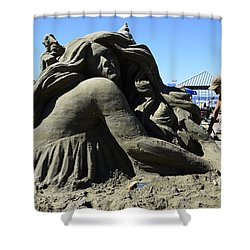 Sand Sculpture 1 Shower Curtain by Bob Christopher