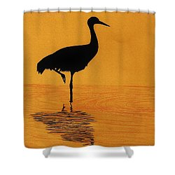 Sandhill - Crane - Sunset Shower Curtain
