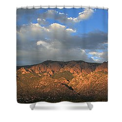 Sandia Crest At Sunset Shower Curtain
