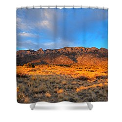 Sandia Crest Sunset Shower Curtain