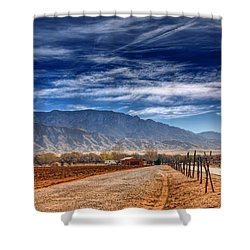 Sandias In My Backyard Shower Curtain by Nikolyn McDonald
