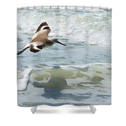 Sandpiper Flight Shower Curtain