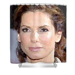Sandra Bullock Portrait Shower Curtain