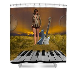 Sands Of Music Shower Curtain