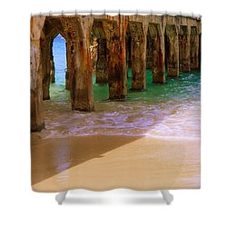 Sands Of Time Shower Curtain by Karen Wiles