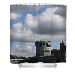 Shower Curtain featuring the photograph Sands Point Castle by John Telfer