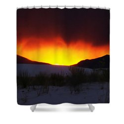 Sands Sunset  Shower Curtain