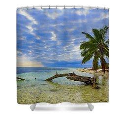 Sandspur Beach Shower Curtain