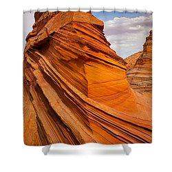 Sandstone Flatiron Shower Curtain by Inge Johnsson