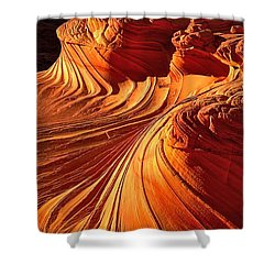 Sandstone Silhouette Shower Curtain
