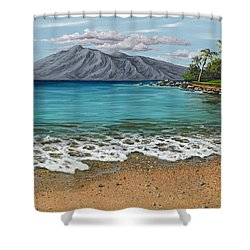 Shower Curtain featuring the painting Sandy Beach by Darice Machel McGuire