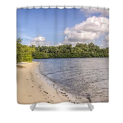 Shower Curtain featuring the photograph Sandy Beach by Jane Luxton