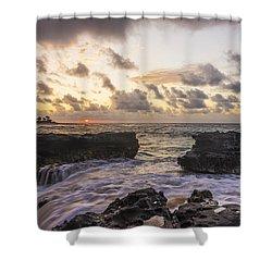 Sandy Beach Sunrise 1 - Oahu Hawaii Shower Curtain by Brian Harig