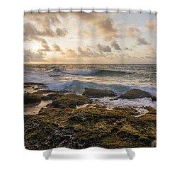 Sandy Beach Sunrise 2 - Oahu Hawaii Shower Curtain by Brian Harig