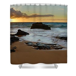 Sandy Beach Sunrise 7 - Oahu Hawaii Shower Curtain by Brian Harig