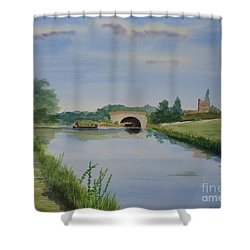 Shower Curtain featuring the painting Sandy Bridge by Martin Howard