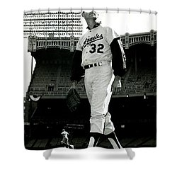 Sandy Koufax Vintage Baseball Poster Shower Curtain