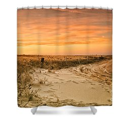 Sandy Road Leading To The Beach Shower Curtain