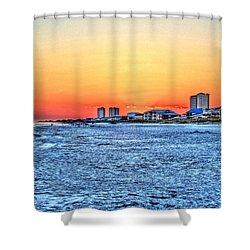 Sandy Sunset Shower Curtain