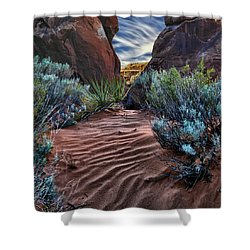 Sandy Trail Arches National Park Shower Curtain