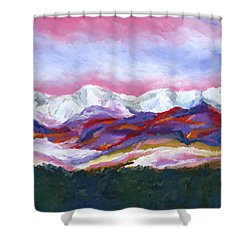 Sangre De Cristo Mountains Shower Curtain by Stephen Anderson