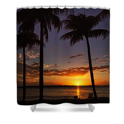 Sanibel Island Sunset Shower Curtain