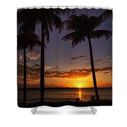Sanibel Island Sunset Shower Curtain by Kim Hojnacki