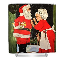 Santa And Mrs Shower Curtain