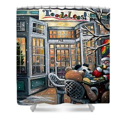 Santa At Toodeloos Toy Store Shower Curtain