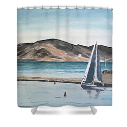 Santa Barbara Sailing Shower Curtain