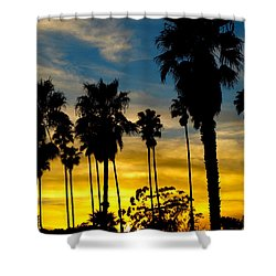 Santa Barbara Sunset Shower Curtain
