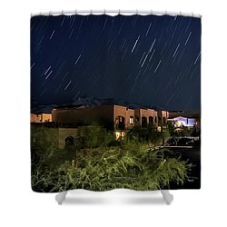 Shower Curtain featuring the photograph Santa Catalina Mountain Startrails by Dan McManus