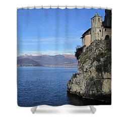 Shower Curtain featuring the photograph Santa Caterina - Lago Maggiore by Travel Pics