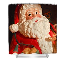 Santa Claus - Antique Ornament - 13 Shower Curtain by Jill Reger