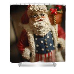 Santa Claus - Antique Ornament - 15 Shower Curtain by Jill Reger