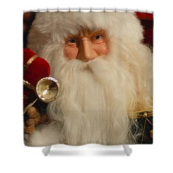 Santa Claus - Antique Ornament - 17 Shower Curtain by Jill Reger