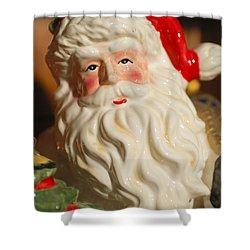 Santa Claus - Antique Ornament - 19 Shower Curtain by Jill Reger