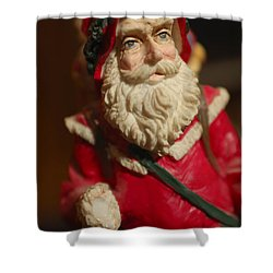 Santa Claus - Antique Ornament - 21 Shower Curtain by Jill Reger